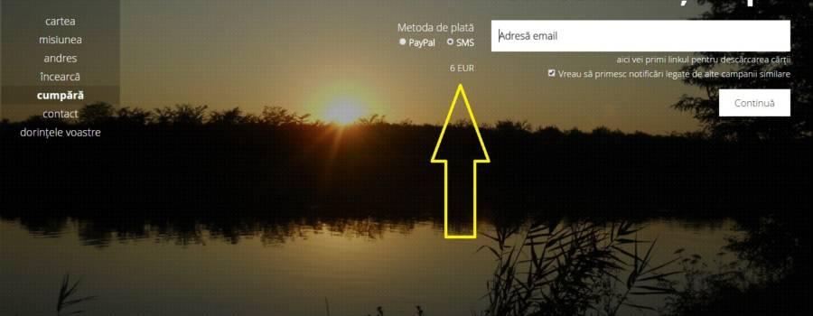 Încă o dorinţă: Plata cărţii prin SMS – tutorial