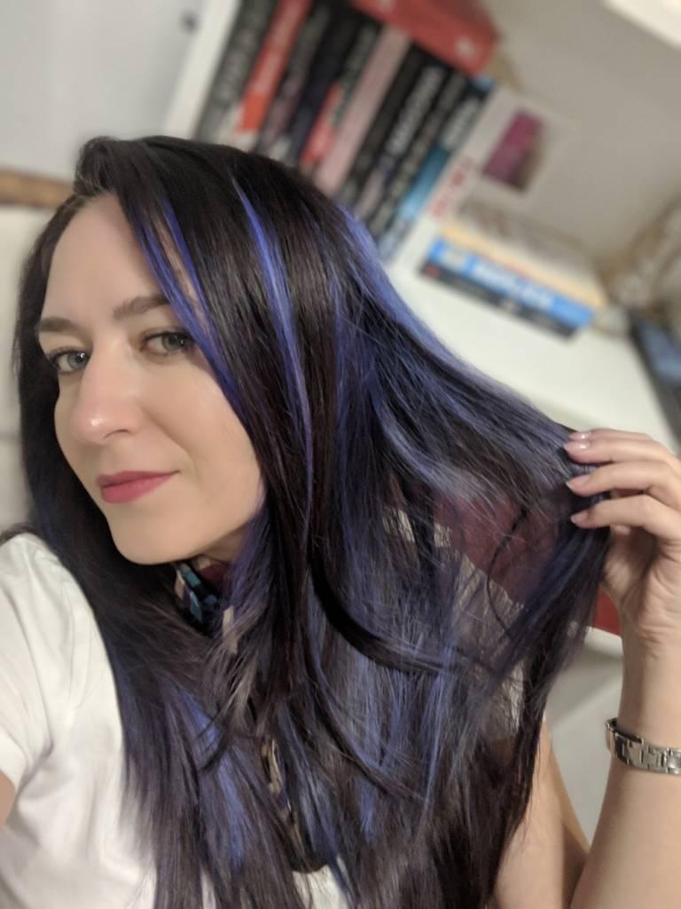 Purple blue hair